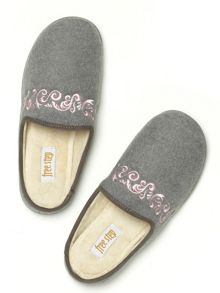 Freestep Florence ornate mule slippers
