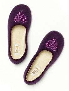 Freestep Sienna ornate slippers