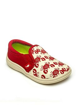 Kids beach print canvas shoes