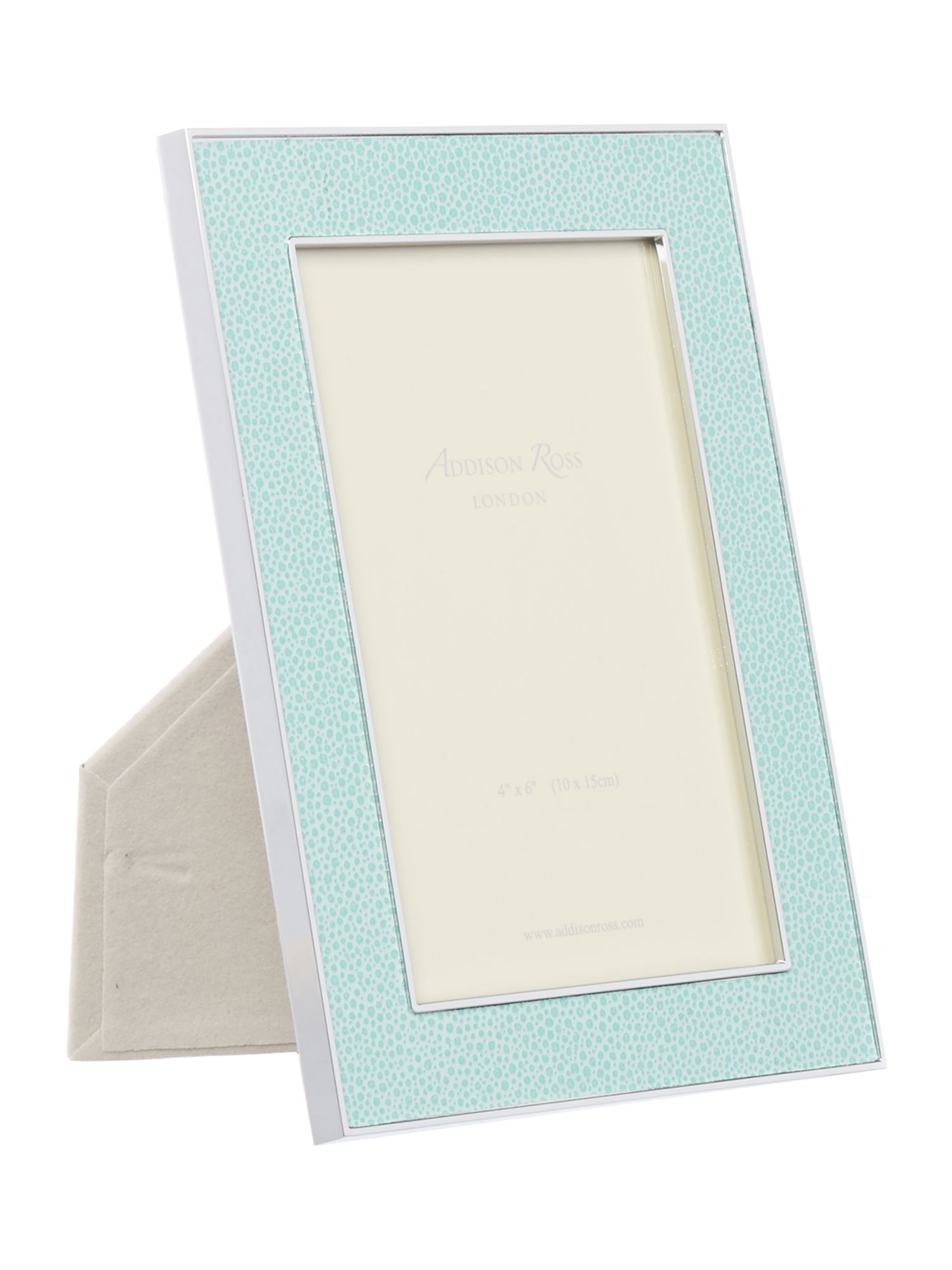 Image of Addison Ross 4x6 shagreen sea green frame