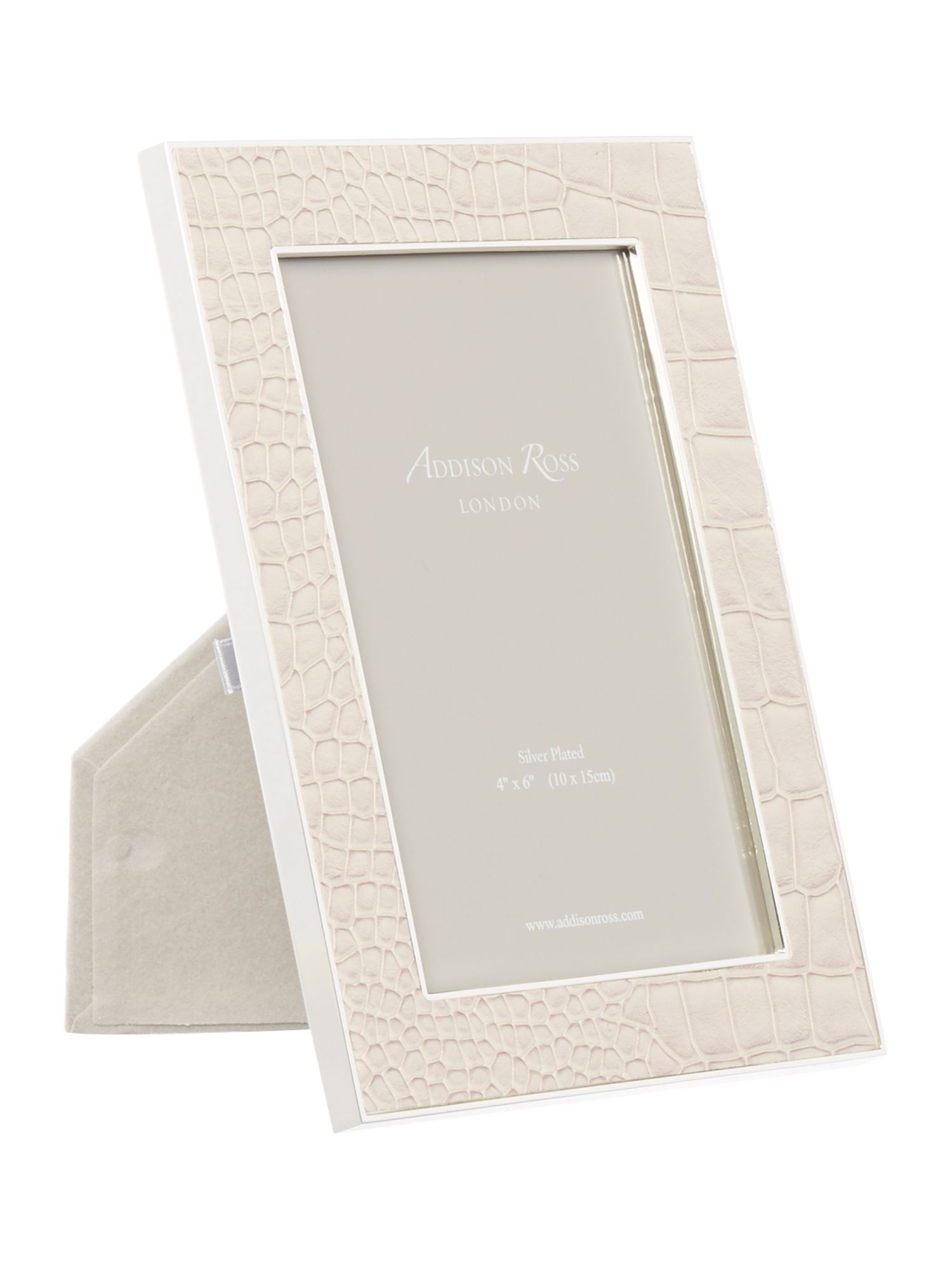 Image of Addison Ross 4x6 faux croc cream frame