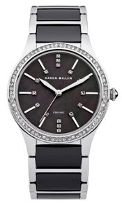 Karen Millen Ladies black  bracelet  watch