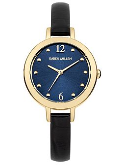 Ladies navy strap watch