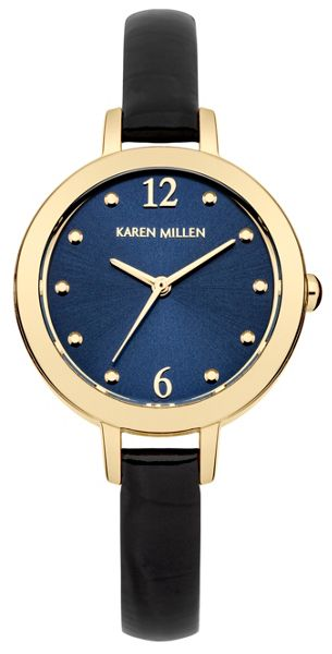 Karen Millen Ladies navy strap watch