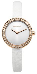 Karen Millen Ladies white strap watch