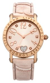 Lipsy Ladies  pink croc strap watch