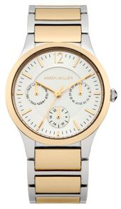 Karen Millen Ladies  gold tone bracelet  watch