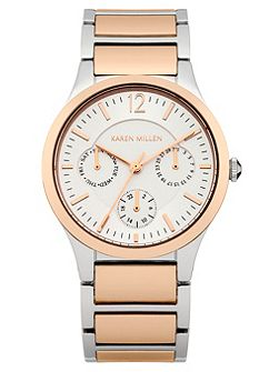 Ladies rose gold tone bracelet watch