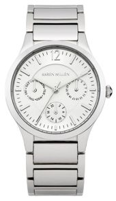 Karen Millen Ladies  silver tone bracelet  watch