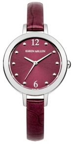 Karen Millen Ladies  violet strap watch
