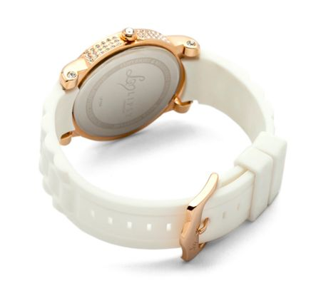 Lipsy Ladies  white strap watch