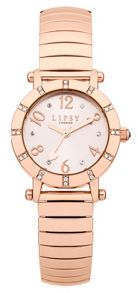 Lipsy Ladies  rose gold expander watch