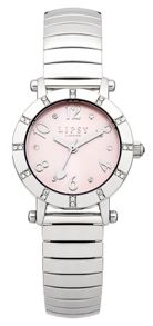 Lipsy Ladies silver expander watch