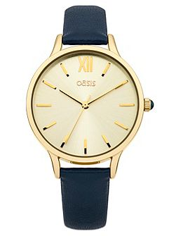 Ladies blue strap watch