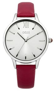 Oasis Ladies red strap watch