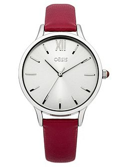 Ladies red strap watch