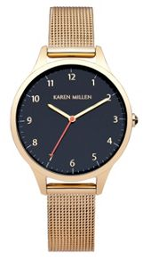Karen Millen Gold tone mesh watch