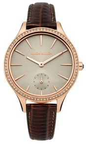 Karen Millen Ladies brown strap watch