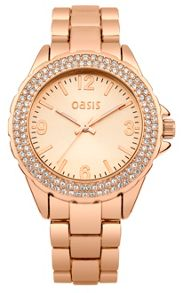 Oasis Ladies rose tone bracelet watch