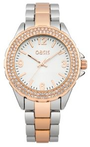 Oasis Ladies two tone bracelet watch
