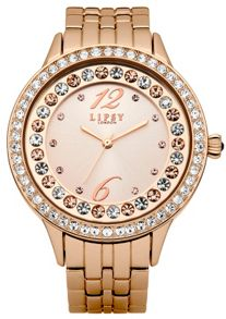 Lipsy Ladies rose gold bracelet watch