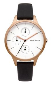 Karen Millen Ladies black strap watch