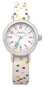 Joules Girl`s white  strap watch