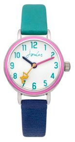 Joules Girl`s navy and green  strap watch