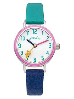 Girl`s navy and green strap watch