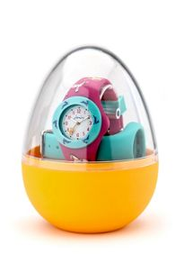 Girl`s pink silicone strap watch