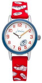 Joules Boy`s red silicone strap watch