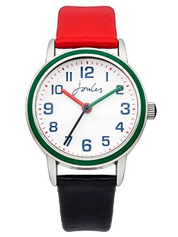 Boy`s red and black strap watch