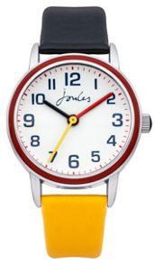Joules Boy`s black and yellow  strap watch