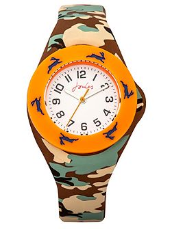 Boy`s multicolour silicone strap watch