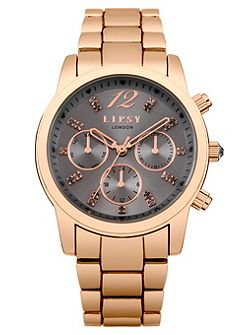Ladies rose gold bracelet watch