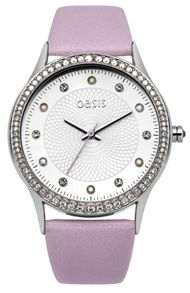 Oasis Ladies lilac strap watch
