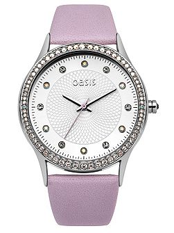 Ladies lilac strap watch