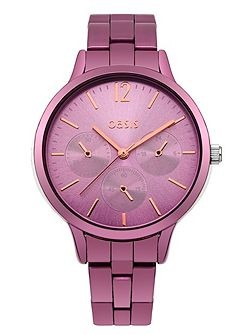 Ladies pink bracelet watch