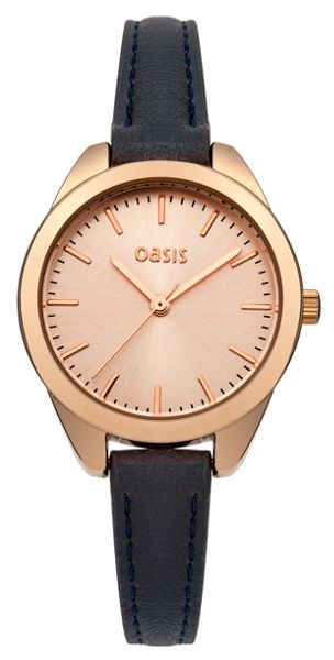 Oasis Ladies navy strap watch