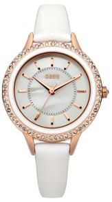 Oasis Ladies white strap watch