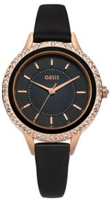 Oasis Ladies grey strap watch