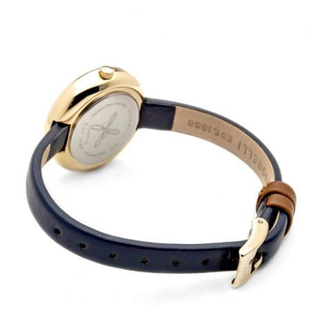 Fiorelli Ladies navy leather strap watch