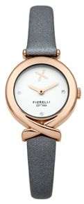 Fiorelli Ladies grey leather strap watch