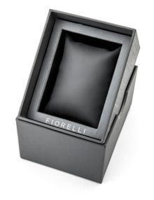 Fiorelli Ladies black  leather strap watch