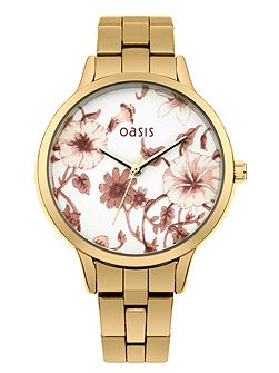 Ladies gold tone bracelet watch