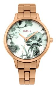 Oasis Ladies rose gold bracelet  watch