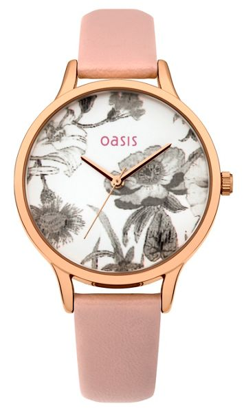Oasis Ladies nude strap watch