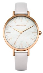 Karen Millen Ladies lilac strap watch