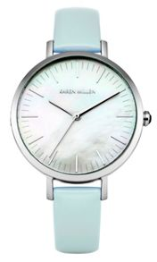 Karen Millen Ladies blue strap watch