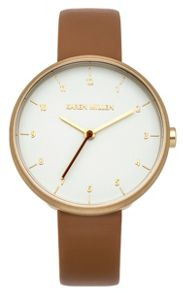 Karen Millen Ladies tan leather strap watch